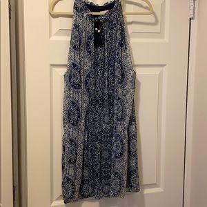 Misa Los Angeles Navy & White Dress